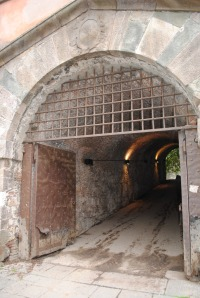 One of the pedestrian tunnels into the city