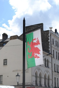Green is one of the three colours of the Welsh flag