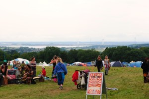 View of the Severn Bridge from the festival